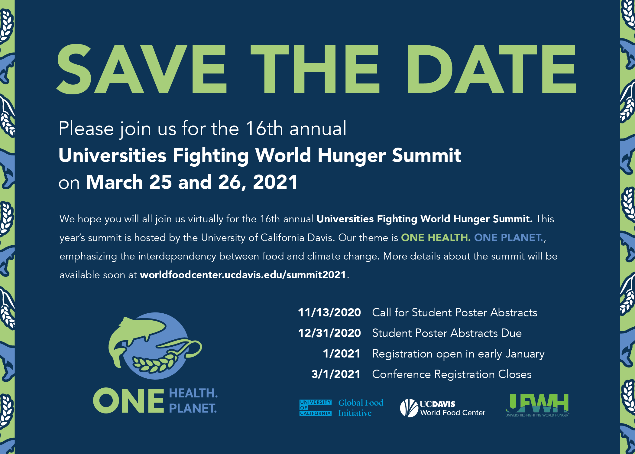 Save the date for the UFWH Summit, March 25-26 2021